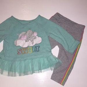 3/$10 or $5. 6-9 month Disney girls matching set
